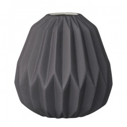 Vase noir porcelaine bloomingville diamond