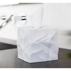 Boîte à mouchoirs carrée blanche wipy essey