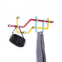 Porte manteau multicolore contemporain umbra subway