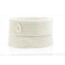 Panier blanc tressé rangement zone denmark confetti